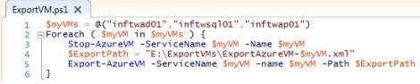 Export VM